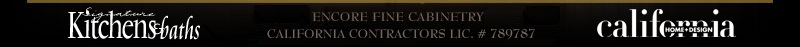 Encore Fine Cabinetry California Contractors